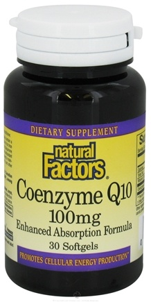 DROPPED: Natural Factors - Coenzyme Q10 Enhanced Absorption Formula 100 mg. - 30 Softgels