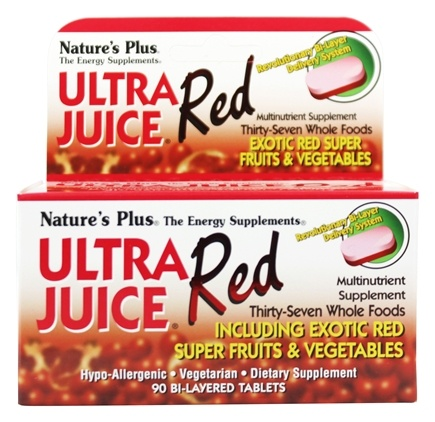 DROPPED: Nature's Plus - Ultra Juice Red Multinutrient Supplement - 90 Tablets