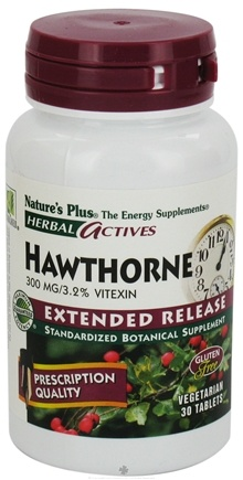 Nature's Plus - Herbal Actives Extended Release Hawthorne 300 mg. - 30 Tablets