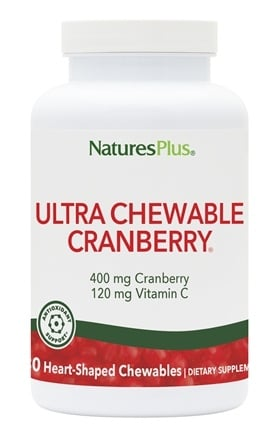 Nature's Plus - Ultra Chewable Cranberry - 180 Chewable Tablets