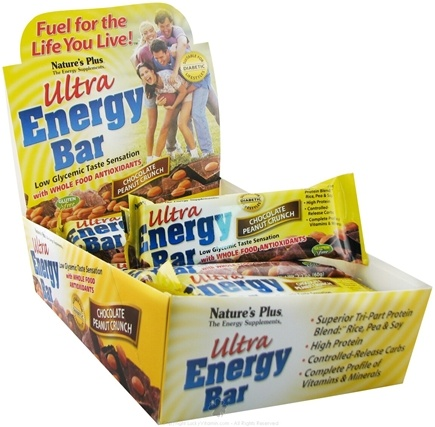 DROPPED: Nature's Plus - Ultra Energy Bar Chocolate Peanut Butter Crunch - 2.1 oz.