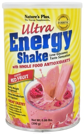 DROPPED: Nature's Plus - Ultra Energy Shake Exotic Red Fruit Flavor - 0.86 lbs. CLEARANCE PRICED