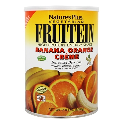 Nature's Plus - Fruitein Shake Banana Orange Cream - 2.8 lbs.