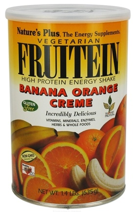 DROPPED: Nature's Plus - Fruitein Shake Banana Orange Cream - 1.4 lbs. CLEARANCE PRICED