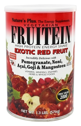 Nature's Plus - Fruitein Shake Exotic Red Fruit - 1.3 lbs.