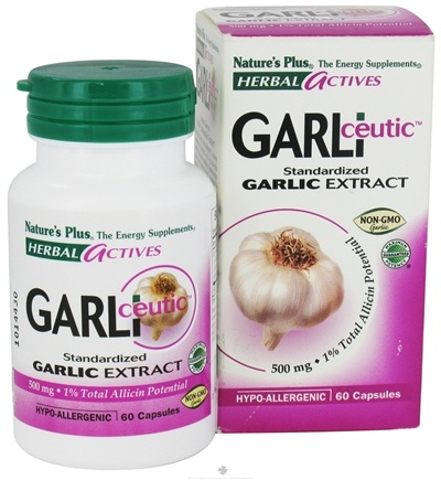 DROPPED: Nature's Plus - Garliceutic Garlic Extract 500 mg. - 60 Capsules CLEARANCE PRICED