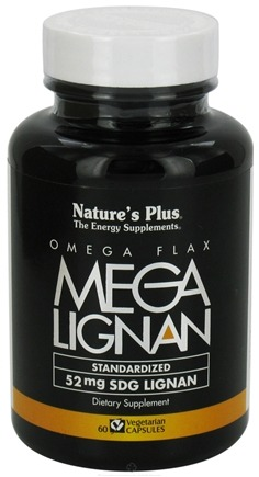 DROPPED: Nature's Plus - Mega Lignan Omega Flax 52 mg. - 60 Vegetarian Capsules CLEARANCE PRICED