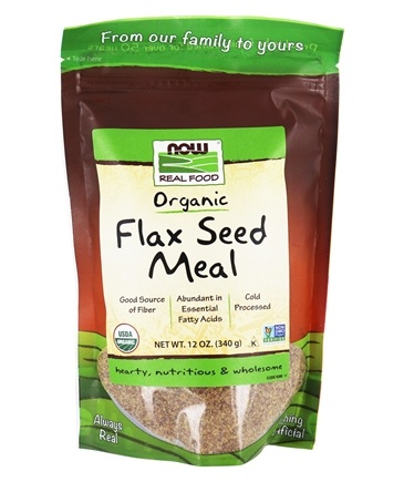 NOW Foods - Flax Seed Meal Organic - 12 oz.