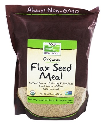NOW Foods - Flax Seed Meal Organic Non-GE - 18 oz.