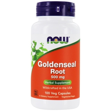 NOW Foods - Goldenseal Root US Wild-Crafted 500 mg. - 100 Capsules