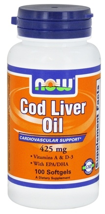 DROPPED: NOW Foods - Cod Liver Oil with Vitamins A & D-3 425 mg. - 100 Softgels