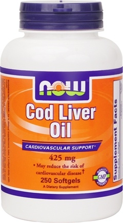 DROPPED: NOW Foods - Cod Liver Oil 425 mg. - 250 Softgels