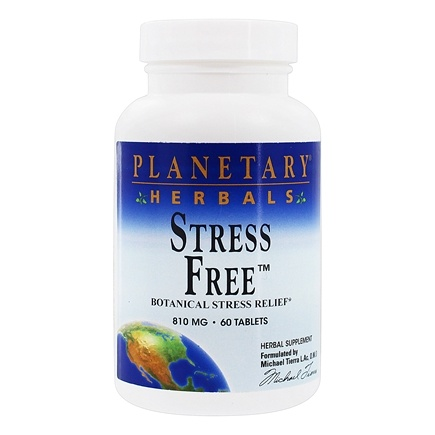 DROPPED: Planetary Herbals - Stress Free 810 mg. - 60 Tablets Formerly Planetary Formulas CLEARANCE PRICED