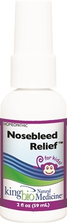 DROPPED: King Bio - Homeopathic Natural Medicine Nosebleed Relief For Kids - 2 oz. CLEARANCE PRICED