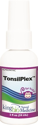 DROPPED: King Bio - Homeopathic Natural Medicine Tonsil Plex For Kids - 2 oz. CLEARANCE PRICED