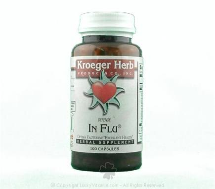 DROPPED: Kroeger Herbs - In Flu C - 100 Capsules