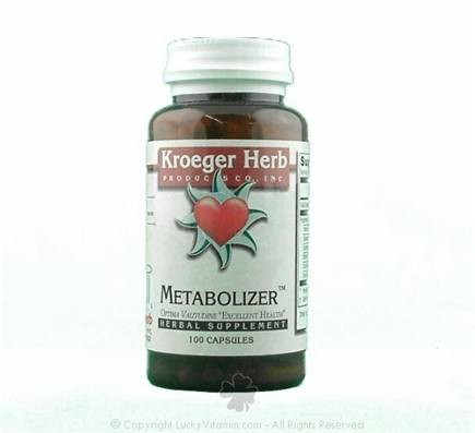 DROPPED: Kroeger Herbs - Herbal Combination Metabolizer - 100 Capsules CLEARANCE PRICED