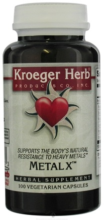 DROPPED: Kroeger Herbs - Metal X Clearance Priced - 100 Capsules Formerly  Metaline