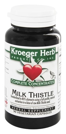 Kroeger Herbs - Complete Concentrates Milk Thistle - 90 Vegetarian Capsules