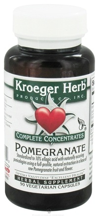 DROPPED: Kroeger Herbs - Pomegranate Complete Concentrate - 90 Vegetarian Capsules CLEARANCE PRICED