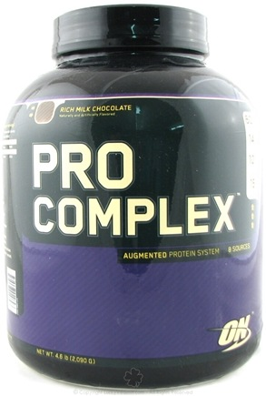 DROPPED: Optimum Nutrition - Pro Complex Augmented Protein System Rich Milk Chocolate - 4.6 lbs.
