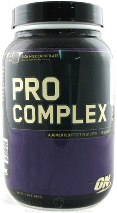 DROPPED: Optimum Nutrition - Pro Complex Augmented Protein System Rich Milk Chocolate - 2.3 lbs.