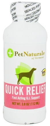 DROPPED: Pet Naturals of Vermont - Quick Relief Fast Acting G.I. Support Digestive Aid For Dogs - 4 oz.