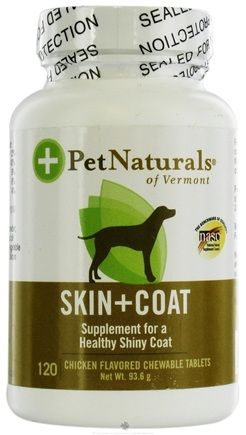 DROPPED: Pet Naturals of Vermont - Skin & Coat Support Chicken Flavored Tablets - 120 Chewable Tablets