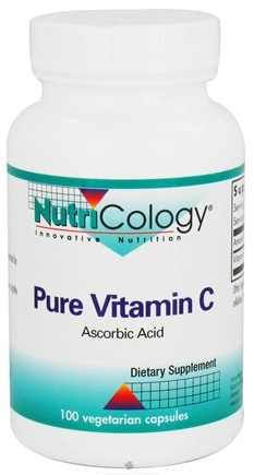 DROPPED: Nutricology - Pure Vitamin C Ascorbic Acid - 100 Vegetarian Capsules