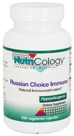 DROPPED: Nutricology - Russian Choice Immune - 200 Vegetarian Capsules CLEARANCE PRICED
