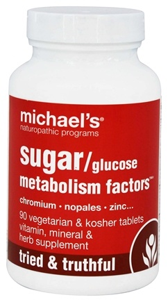 Michael's Naturopathic Programs - Glucose Sugar Metabolism Factors - 90 Vegetarian Tablets