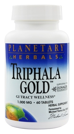 DROPPED: Planetary Herbals - Triphala Gold 750 mg. - 60 Tablets Formerly Planetary Formulas
