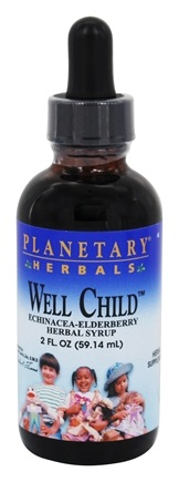 DROPPED: Planetary Herbals - Well Child Echinacea-Elderberry Syrup - 2 oz. Formerly Planetary Formulas