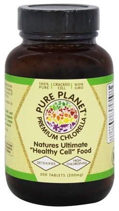 DROPPED: Pure Planet - Chlorella Anti-Aging Green Food 200 mg. - 300 Tablets