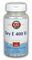 DROPPED: Kal - Dry E Oil Free 400 IU - 90 Tablets