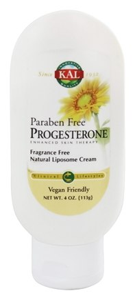 Kal - Progesterone Cream Fragrance Free - 4 oz.