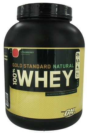 DROPPED: Optimum Nutrition - 100% Whey Gold Standard Natural Protein Strawberry - 5 lbs.