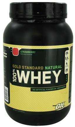 DROPPED: Optimum Nutrition - 100% Whey Gold Standard Natural Protein Strawberry - 2 lbs. CLEARANCE PRICED