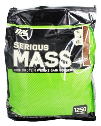 Optimum Nutrition - Serious Mass Chocolate - 12 lbs.