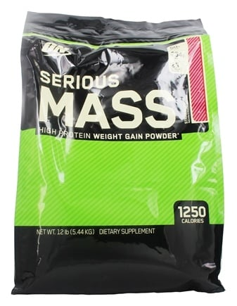 Optimum Nutrition - Serious Mass Strawberry - 12 lbs.