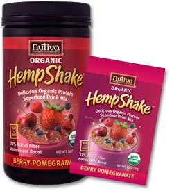 DROPPED: Nutiva - Organic Hemp Shake Berry Pomegranate - 1 Packet