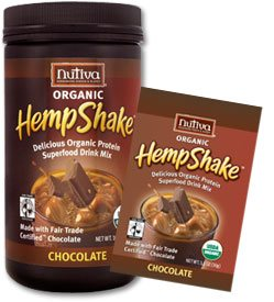 DROPPED: Nutiva - Organic Hemp Shake Chocolate - 1 Packet