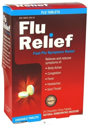 DROPPED: NatraBio - Flu Relief Tablets - 24 Tablets CLEARANCE PRICED