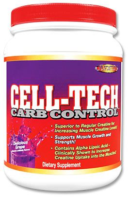 DROPPED: Muscletech Products - Cell-Tech Carb Control Delicious Grape - 1.34 lb.