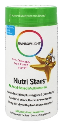 DROPPED: Rainbow Light - NutriStars Delicious Fruit Blast - 60 Chewable Tablets
