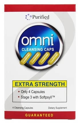 Purified Brand - Omni Cleansing Capsules Extra Strength - 4 Capsules