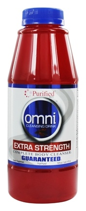 Purified Brand - Omni Cleansing Drink Extra Strength Complete Body Cleanser Fruit Punch Flavor - 16 oz.