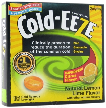 DROPPED: Cold-Eeze - Lozenges Natural Lemon Lime - 18 Lozenges Formerly by Quigley CLEARANCE PRICED