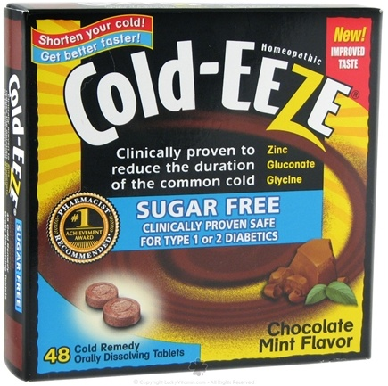 DROPPED: Cold-Eeze - Sugar Free Chocolate Mint - 48 Tablets Formerly by Quigley