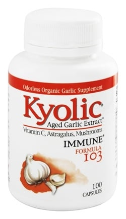 Kyolic - Formula 103 Aged Garlic Extract With Vitamin C, Astragalus, Mushrooms - 100 Capsules